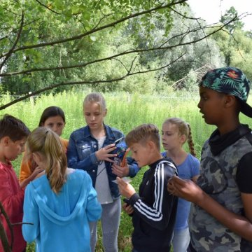 Kinder beim Natur-Film-Workshop